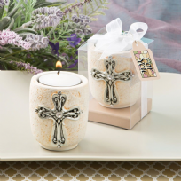 Cross Design Tealight Candle Holder